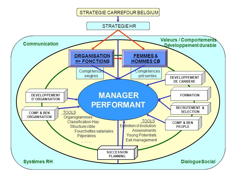 SystèmesRH Communication DialogueSocial STRATEGIE CARREFOUR BELGIUM STRATEGIEHR Compétences exigées Compétences présentes TOOLS Organigrammes Classifi