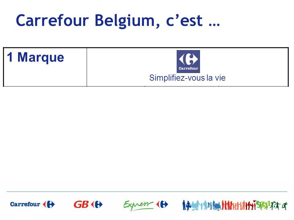 Carrefour Belgium, cest … 1 Marque Simplifiez-vous la vie 3 Enseignes Simplifiez vous la vie Tout sous le même toit Simplifiez vous la vie Spécialiste