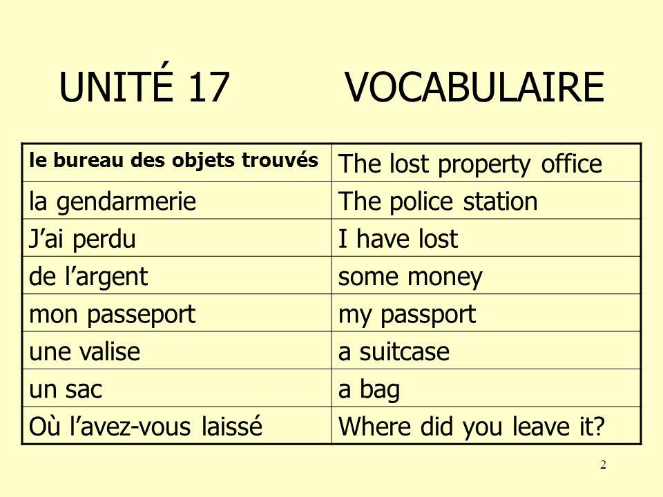 12 Jai perdu Jai perdu mon passeport