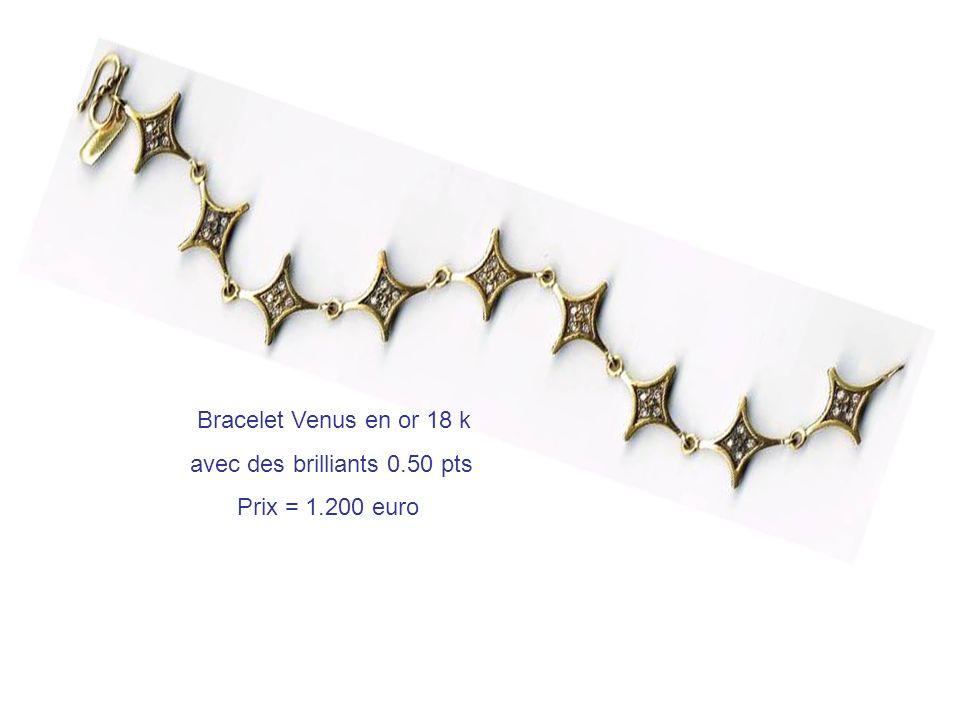 Bracelet Venus en or 18 k avec des brilliants 0.50 pts Prix = 1.200 euro