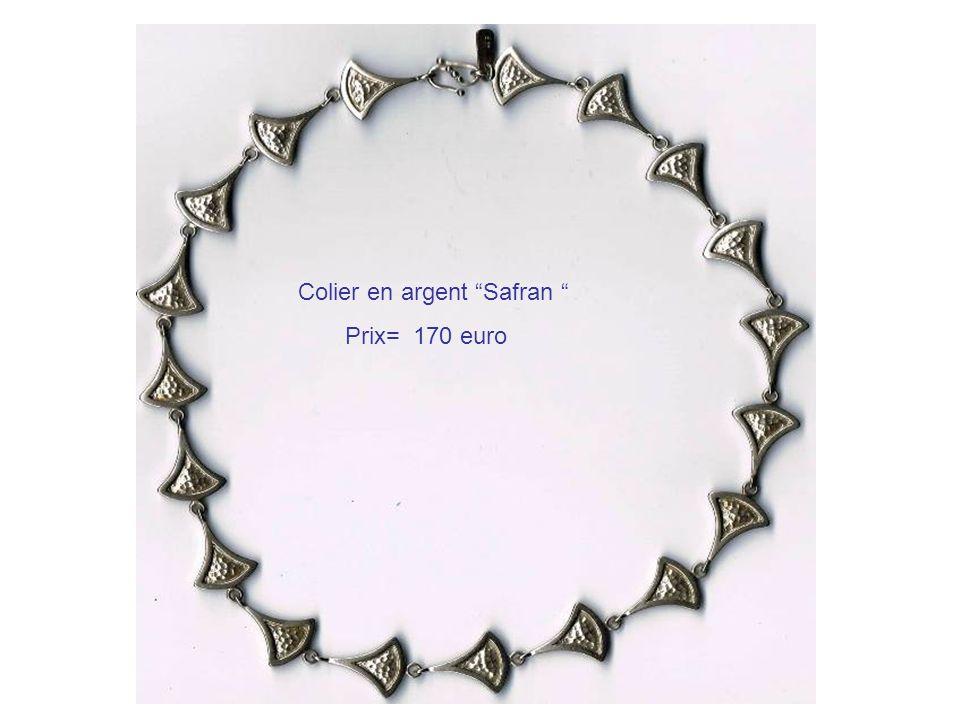 Colier en argent Safran Prix= 170 euro