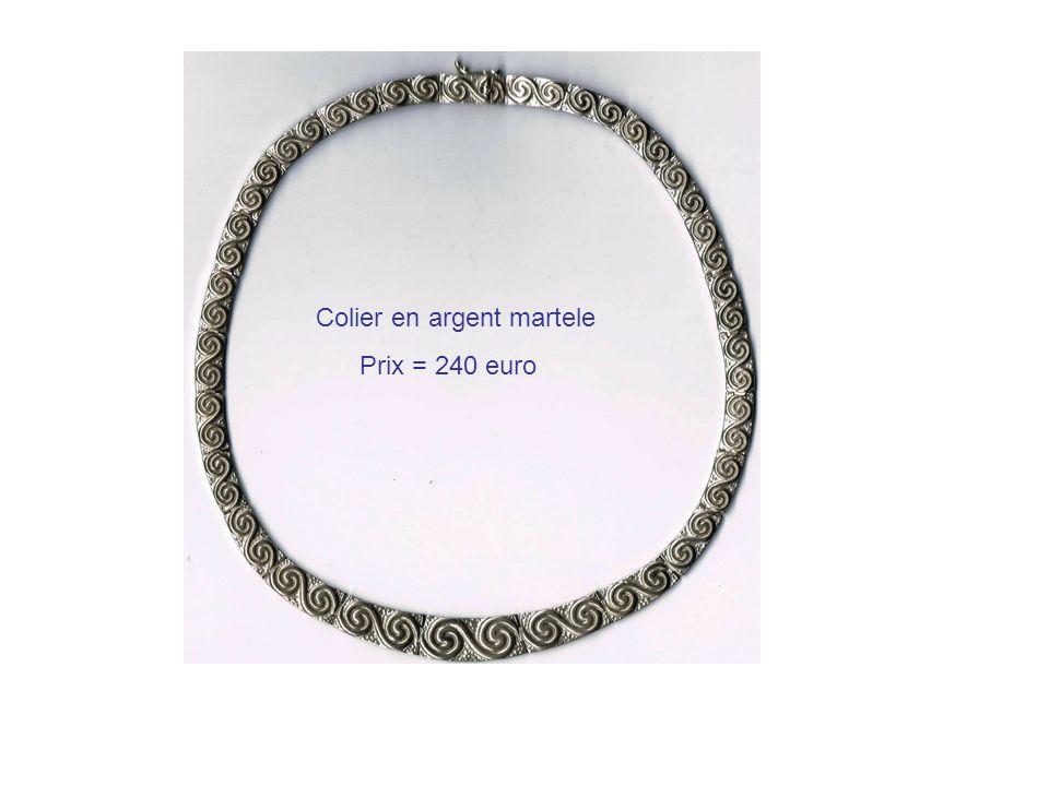 Colier en argent martele Prix = 240 euro