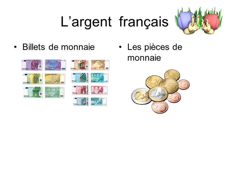 Nous allons ….. Apprendre largent français Pratiquer les dialogues