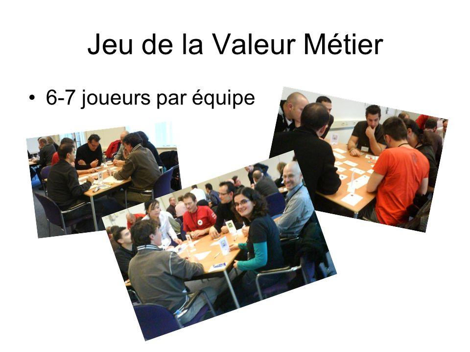 Jeu de la Valeur Métier 6-7 joueurs par équipe