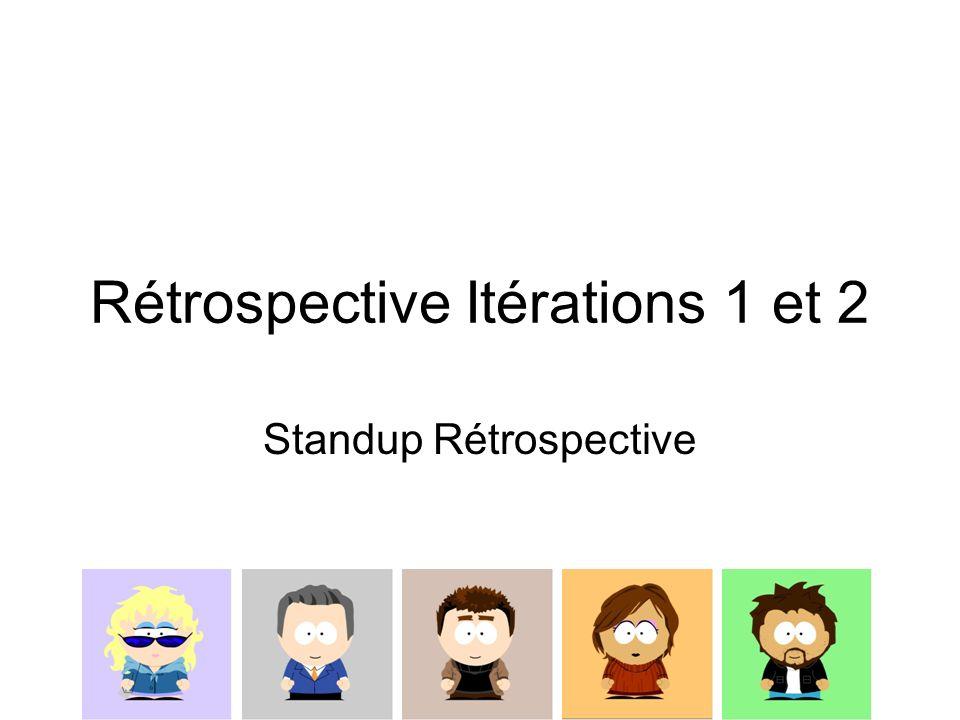 Rétrospective Itérations 1 et 2 Standup Rétrospective
