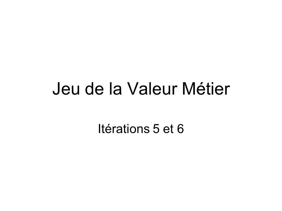 Jeu de la Valeur Métier Itérations 5 et 6