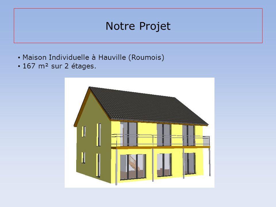 Notre Projet Maison Individuelle à Hauville (Roumois) 167 m² sur 2 étages.