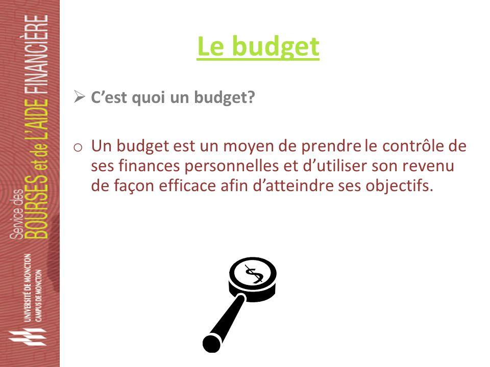 Le budget Cest quoi un budget.