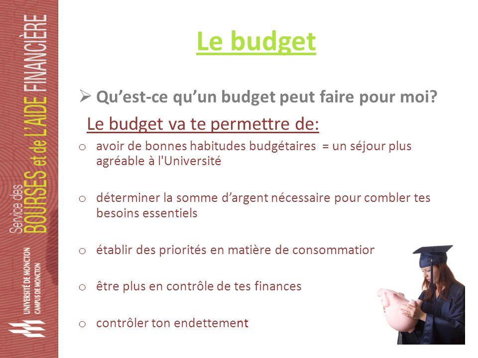 Le budget Quest-ce quun budget peut faire pour moi.