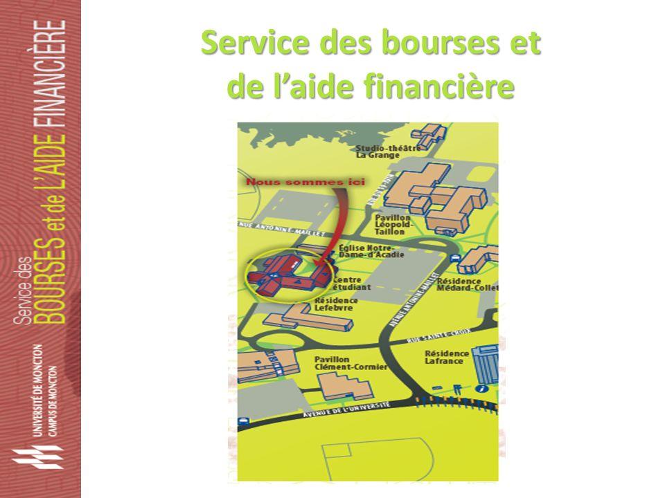Service des bourses et de laide financière