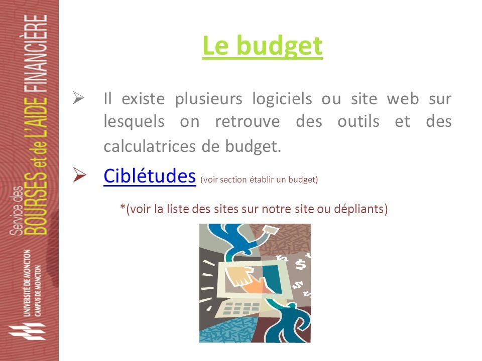 Le budget Il existe plusieurs logiciels ou site web sur lesquels on retrouve des outils et des calculatrices de budget.