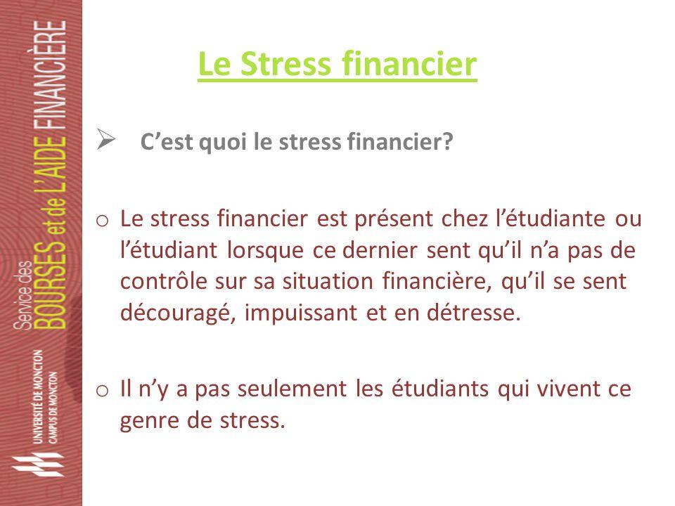 Le stress financier Quels sont les symptômes principaux.