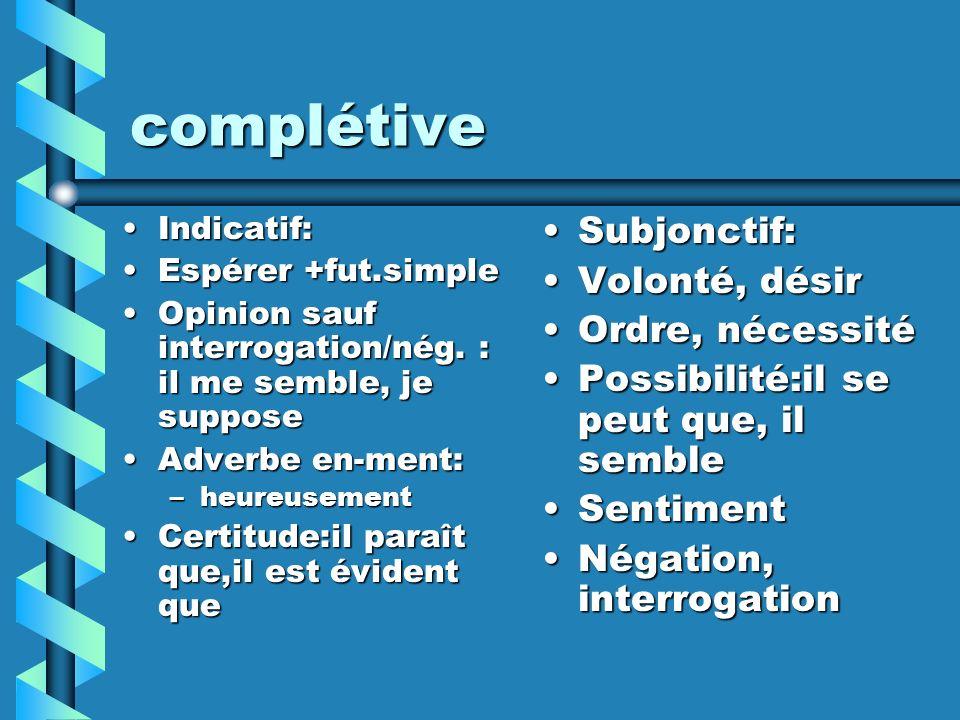 conjonctives Sans que +subjonctif Conséquence+ind.