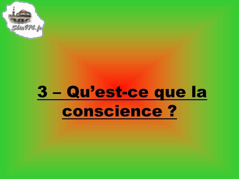 3 – Quest-ce que la conscience ?