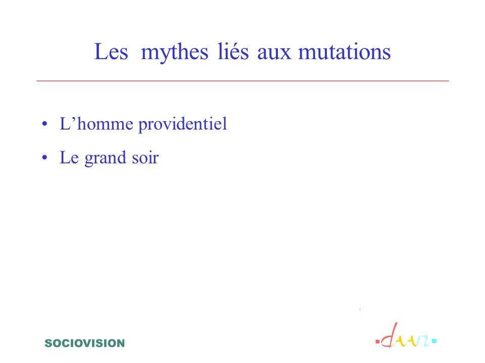 Les mythes liés aux mutations Lhomme providentiel Le grand soir