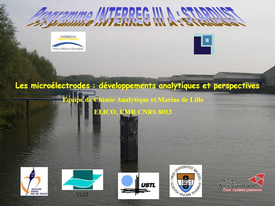 VLIZ Les microélectrodes : développements analytiques et perspectives Equipe de Chimie Analytique et Marine de Lille ELICO, UMR CNRS 8013