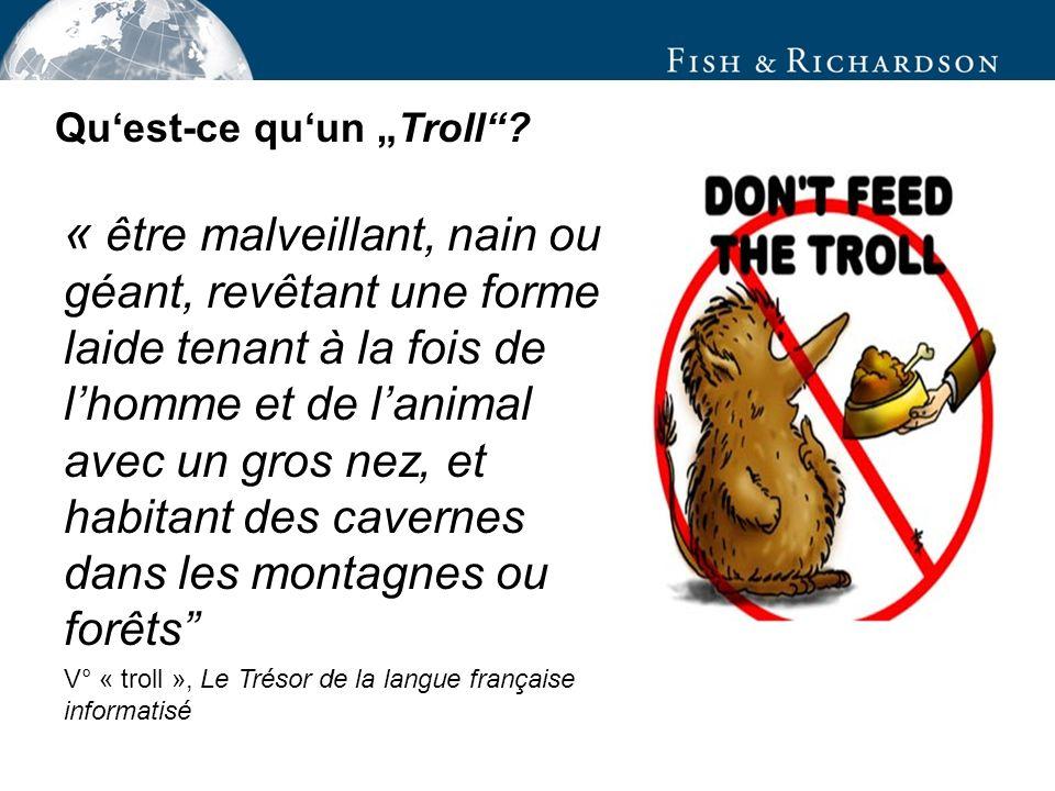 « être malveillant, nain ou géant, revêtant une forme laide tenant à la fois de lhomme et de lanimal avec un gros nez, et habitant des cavernes dans les montagnes ou forêts V° « troll », Le Trésor de la langue française informatisé Quest-ce quun Troll