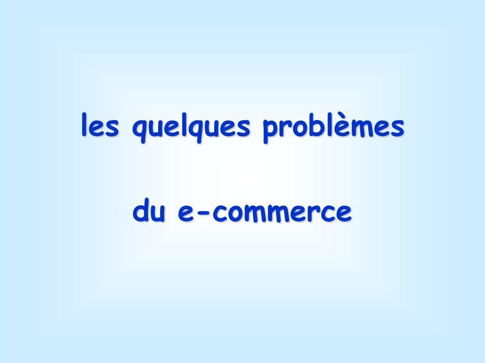 les quelques problèmes du e-commerce