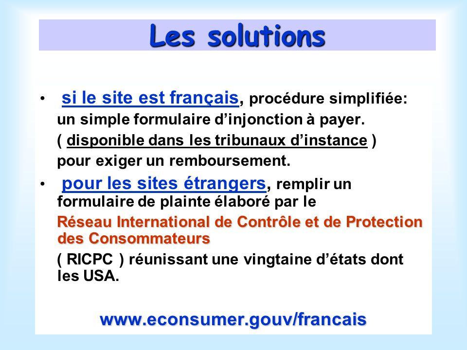 Les solutions si le site est français, procédure simplifiée: un simple formulaire dinjonction à payer.