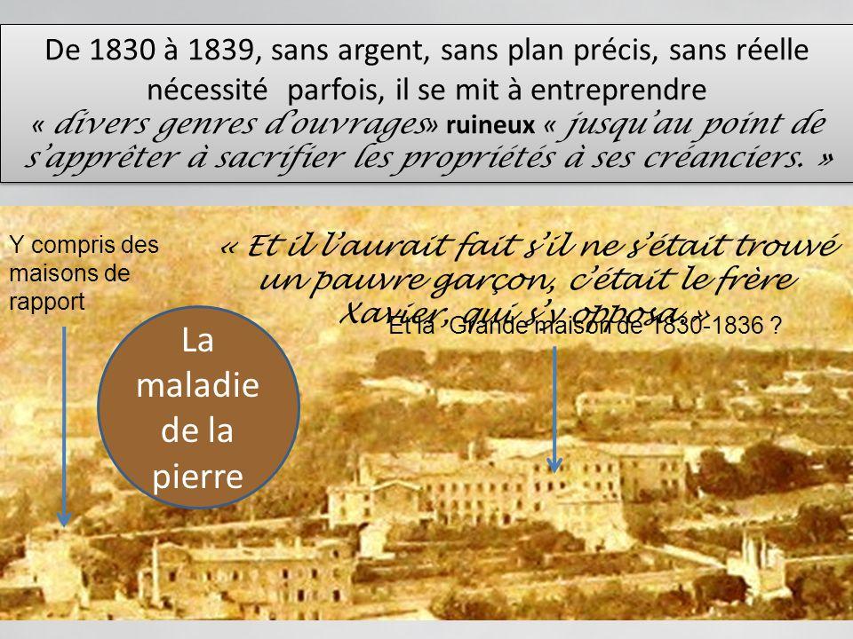COUP FUNESTE AVEC LA REVOLUTION DE 1830 A lyon elle fut bien limitée et pourtant! Le Père François salarma outre mesure et décida de renvoyer les Novi