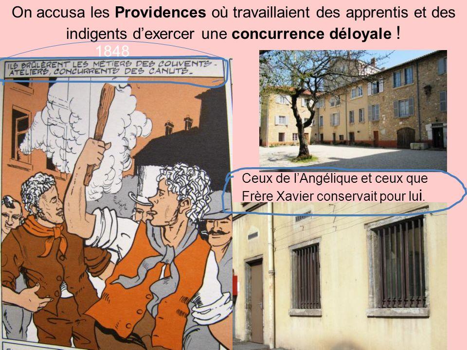 Pour tout dire: de la même manière quon avait voulu jeter au Rhône Mr. Jacquard parce que ses métiers modernes supprimaient du travail;