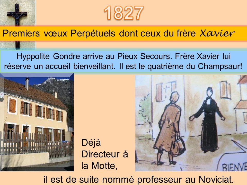 Le chapitre général des Frères réuni au Pieux Secours le 14 juin 1826, élit M. François Vincent Coindre Père Supérieur des Frères. Le jeune Supérieur