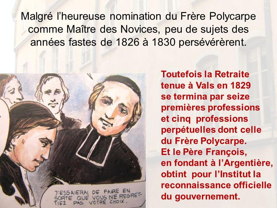 A Lyon plusieurs des Novices sont employés comme ouvriers: la formation minimale de tous les frères nest plus correctement assurée.