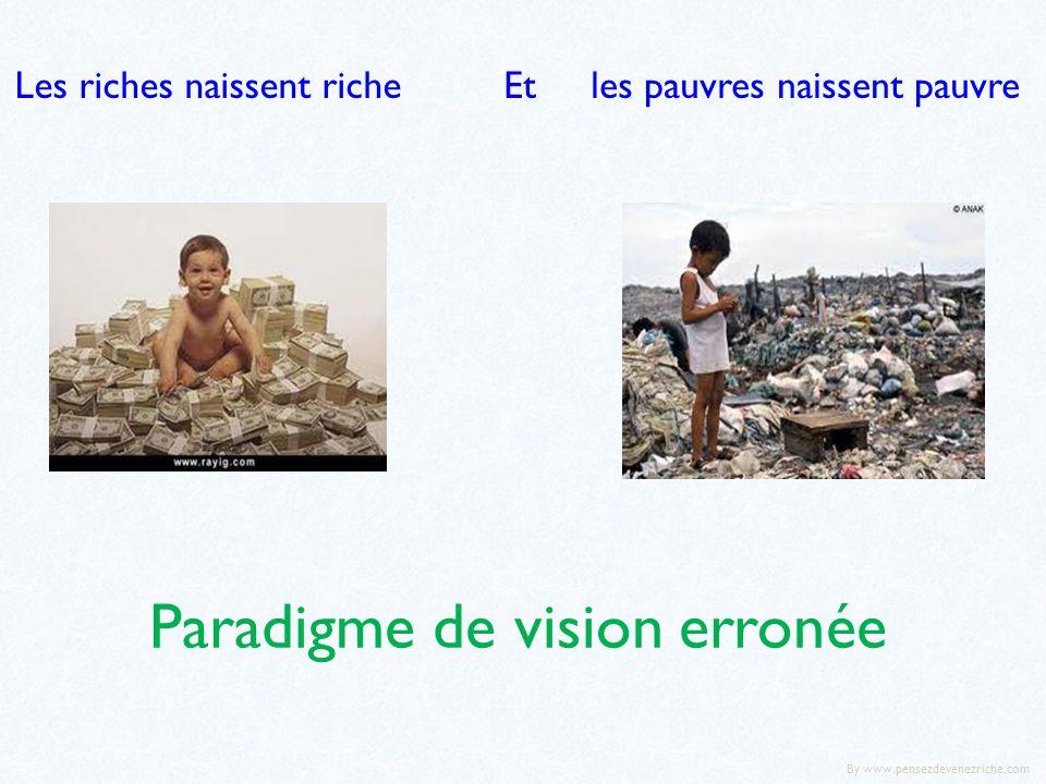 Paradigme de vision erronée Les riches naissent richeEt les pauvres naissent pauvre By www.pensezdevenezriche.com