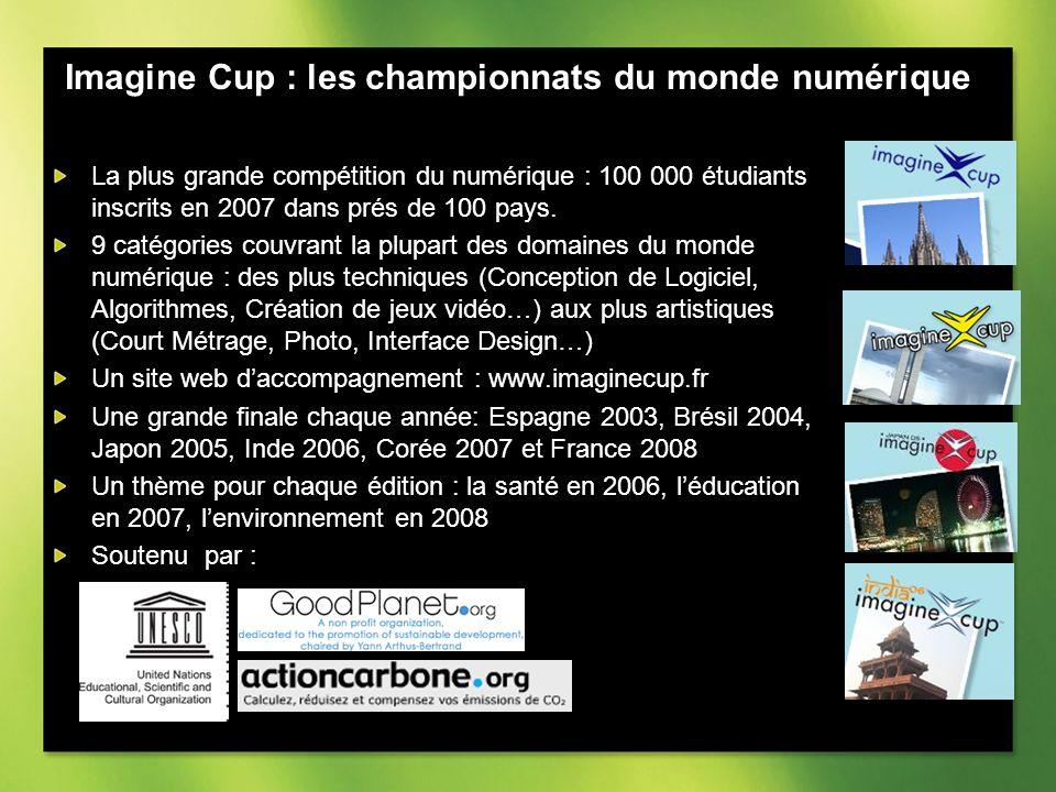 La plus grande compétition du numérique : 100 000 étudiants inscrits en 2007 dans prés de 100 pays.
