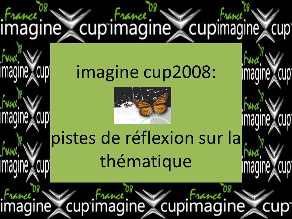 imagine cup2008: pistes de réflexion sur la thématique