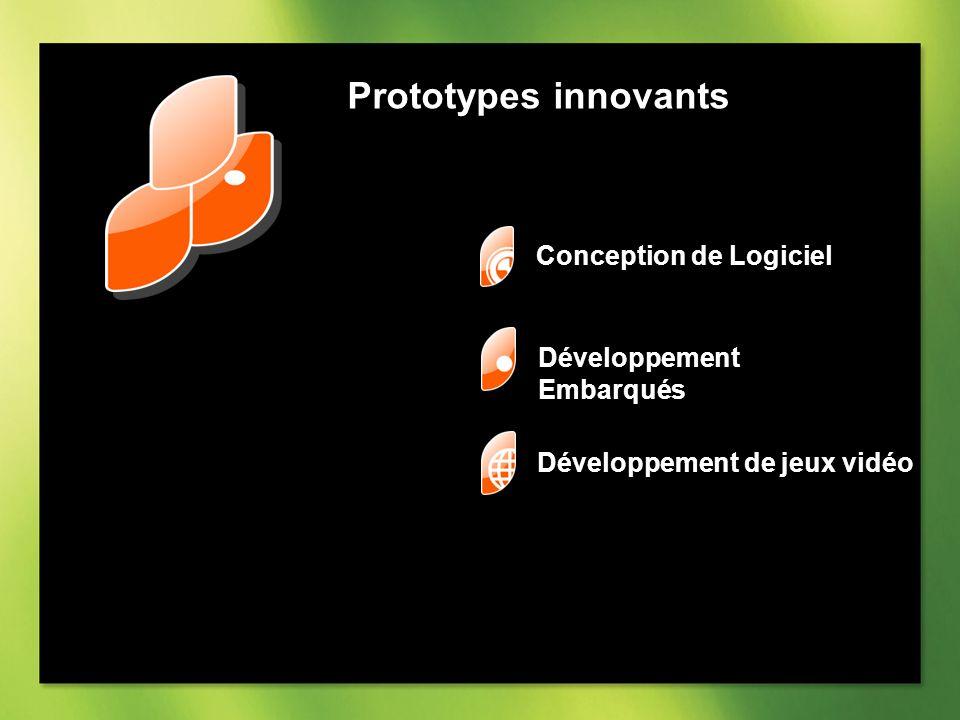 Prototypes innovants Conception de Logiciel Développement Embarqués Développement de jeux vidéo