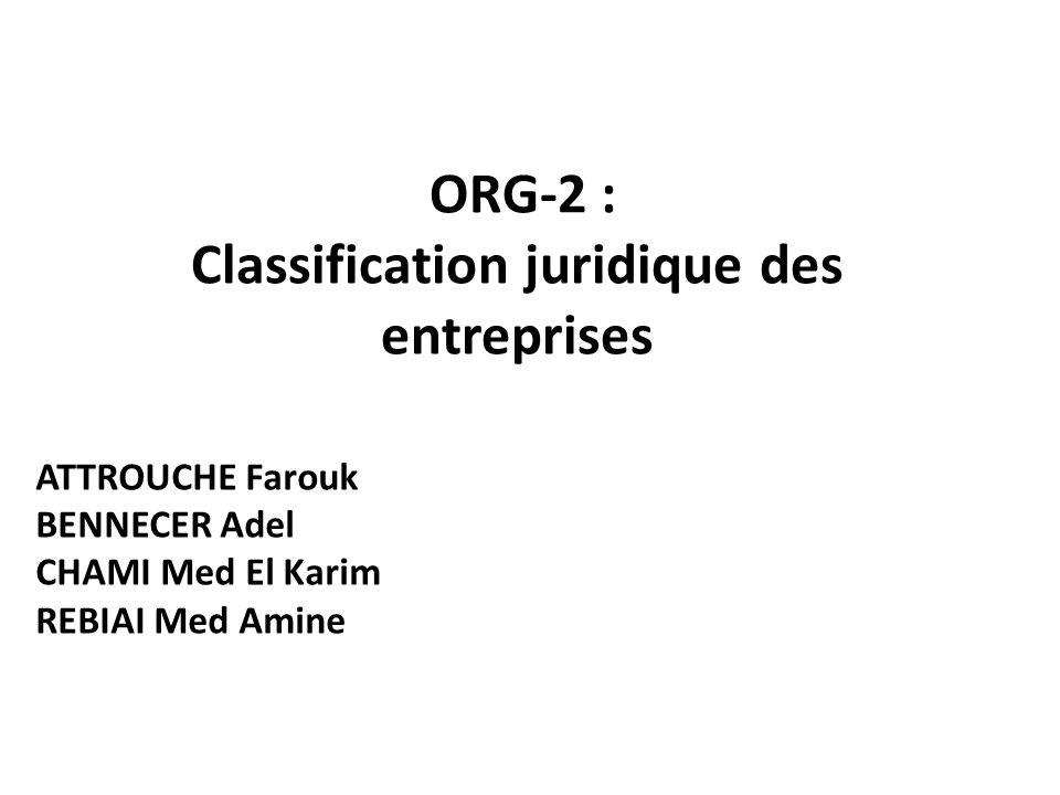 Définition de lentreprise Dans la législation commerciale algérienne il existe plusieurs formes juridiques d entreprises.