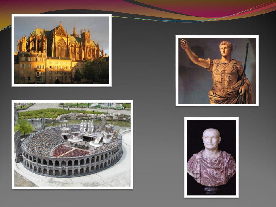 L Amphithéâtre de Metz Il fut construit durant le I er siècle de notre ère, sous le règne des empereurs romains Auguste ou Vespasien Il était sûrement le plus grand amphithéâtre édifié en Gaule romaine dans la ville de Metz, en Lorraine Ce monument était surement l un des dix plus grands amphithéâtres construits par les Romains était semblable aux arènes de Vérone dans sa construction Il fut progressivement ruiné par le pillage de ses pierres qui servirent à la construction de la muraille romaine et de divers édifices de la ville Quelques éléments alors exhumés sont exposés aux musées de Metz