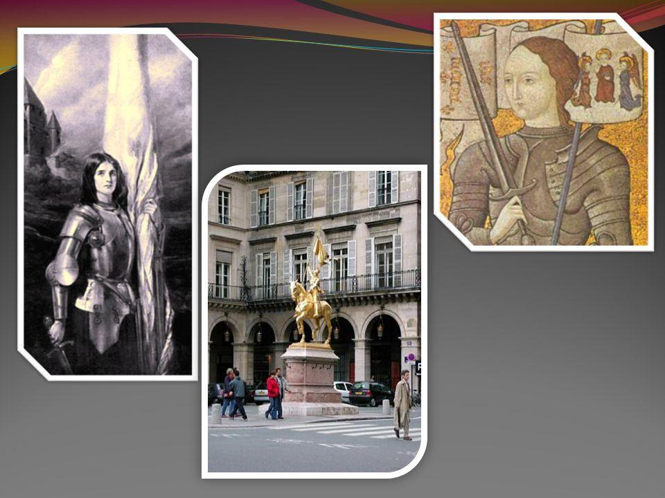 Lorrains célèbres : Jeanne dArc Sainte Jeanne d Arc est considérée comme lorraine bien que née sur la rive gauche de la Meuse Jeanne d Arc, surnommée la Pucelle d Orléans, est une figure emblématique de l histoire de France Elle est née en 1409 à Domrémy, près de Vaucouleurs Elle réussit en huit jours à délivrer la ville d Orléans, qui était assiégée par une nombreuse armée anglaise, et qui était la seule place importante qui restât au roi de France Elle fut faite prisonnière par les Bourguignons, le 24 mai, dans une sortie En 1820, un monument a été élevé aussi à la Pucelle sur l emplacement de sa maison à Domrémy En 1855, une statue équestre lui a été érigée en Orléans Elle est béatifiée en 1909 et canonisée en 1920 Elle est l une des trois saintes patronnes de la France