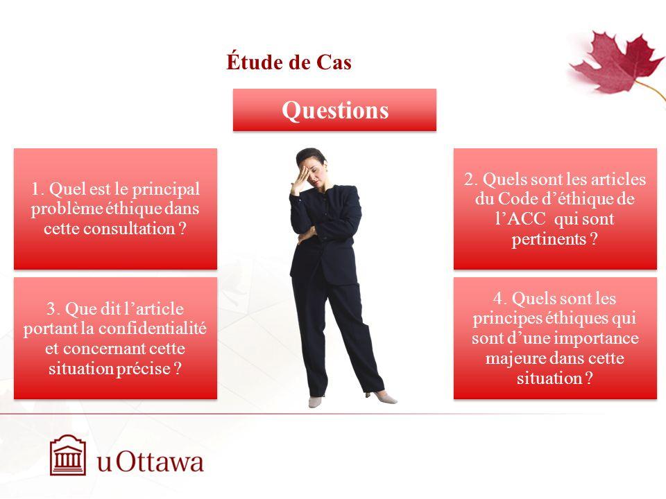 Étude de Cas EDU 5670 - semaine 3: La prise de décision éthique Questions Questions 1.