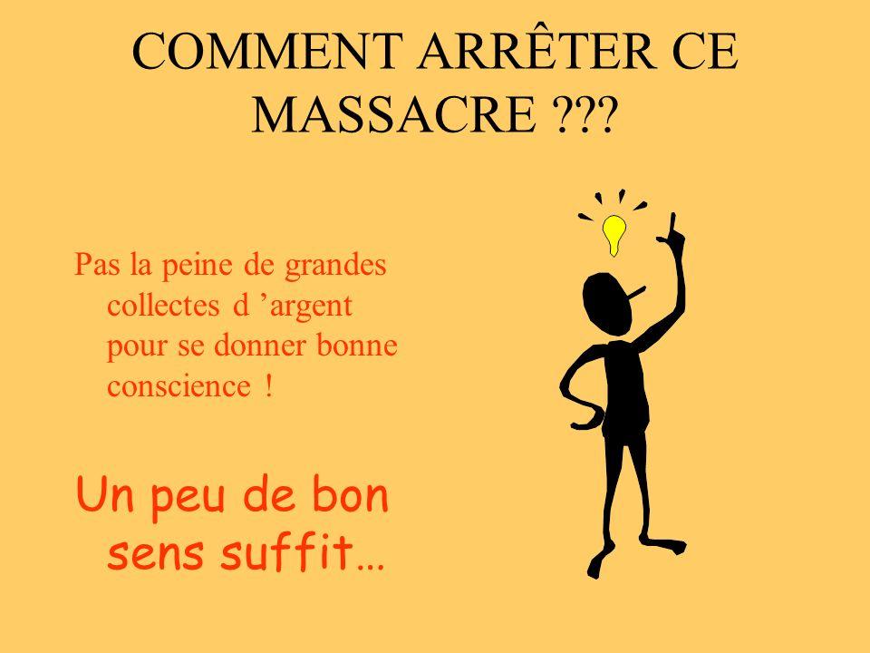 COMMENT ARRÊTER CE MASSACRE .