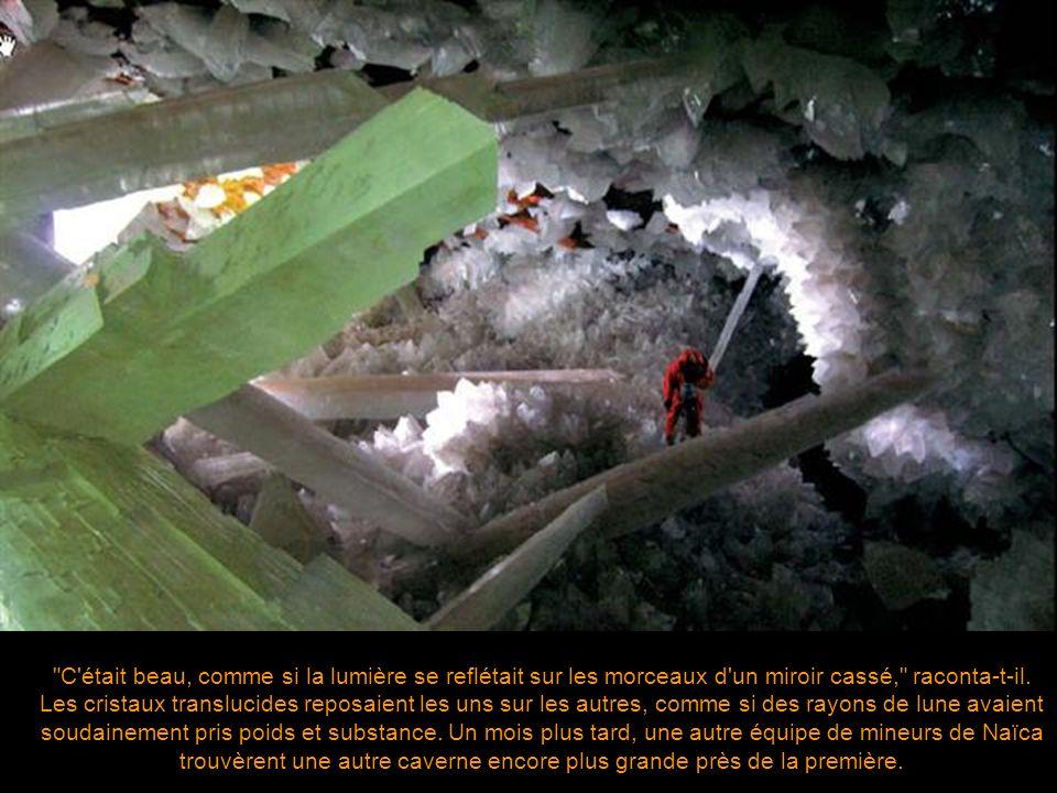 En avril 2000, les frères Eloy et Javier Delgado trouvèrent ce que les experts estiment être les plus grands cristaux au monde alors qu'ils creusaient