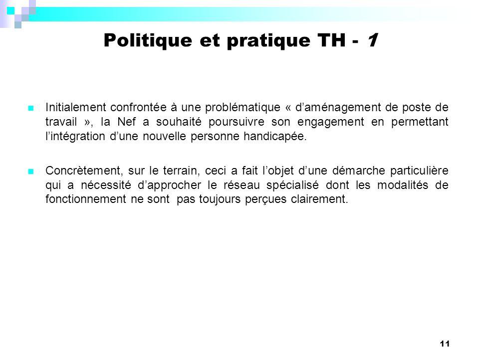 11 Initialement confrontée à une problématique « daménagement de poste de travail », la Nef a souhaité poursuivre son engagement en permettant lintégr