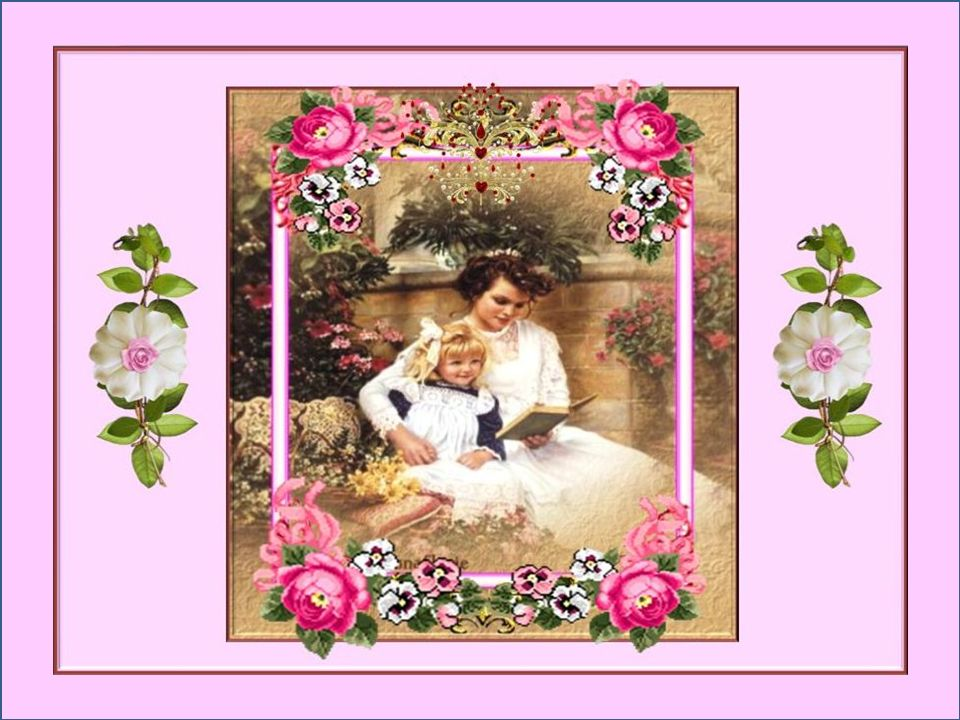 Elle entreprit de confectionner son petit bouquet: Sur chaque fleur elle posait un baiser, Elle voulait que sa maman en soit couverte, Et déjà elle en