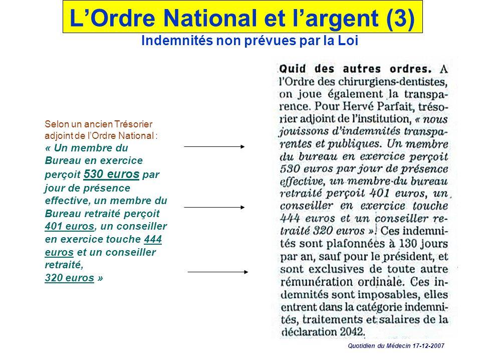 LOrdre National et largent (3) : En 1994 déjà : « 4.283.496 Fr (654.000 ) uniquement pour les frais de transports; 6.396.173 Fr (976.514 ) en frais de