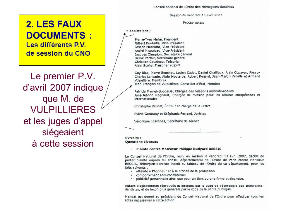 LES FAUX DOCUMENTS