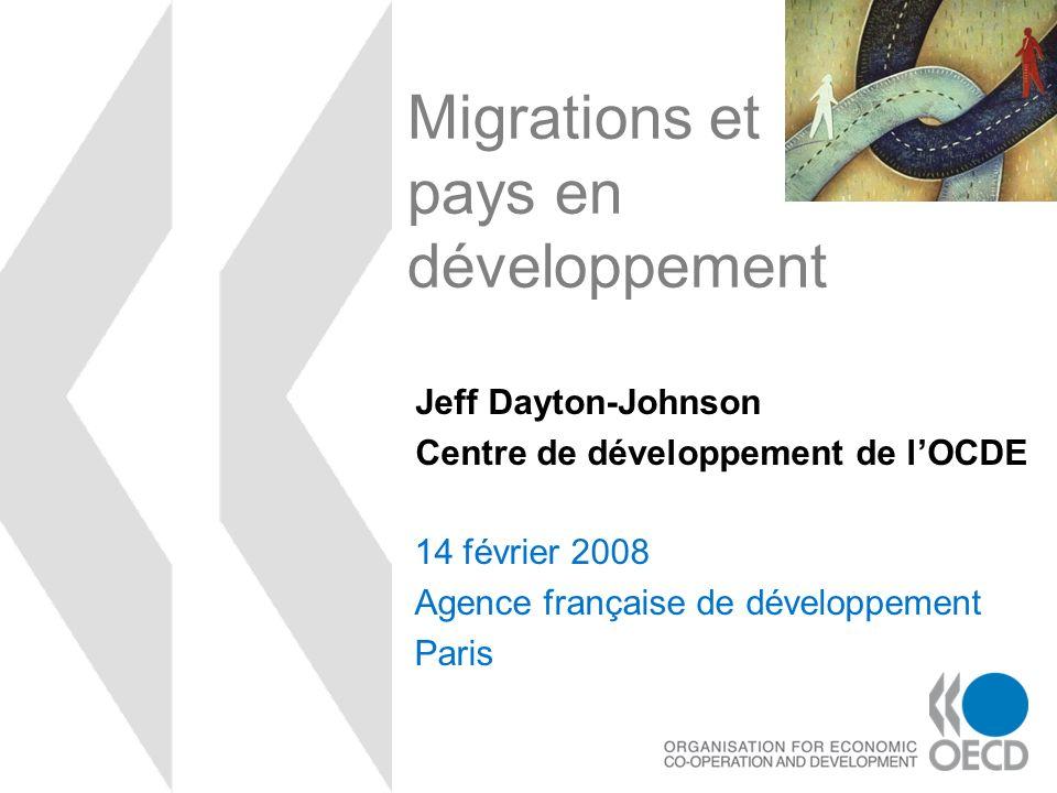Migrations et pays en développement 14 février 2008 Agence française de développement Paris Jeff Dayton-Johnson Centre de développement de lOCDE