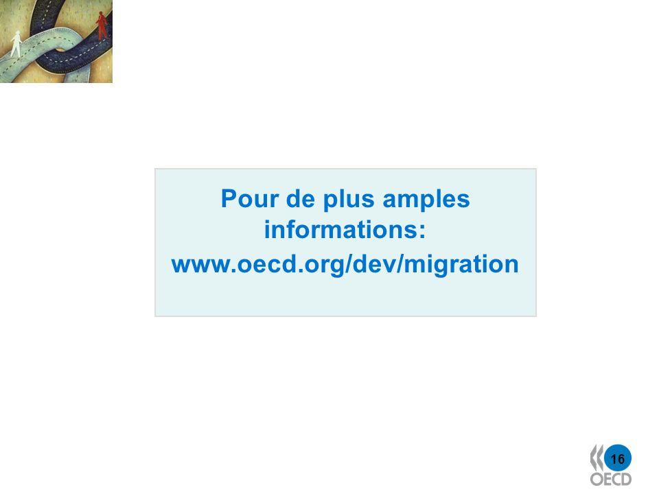 16 Pour de plus amples informations: www.oecd.org/dev/migration