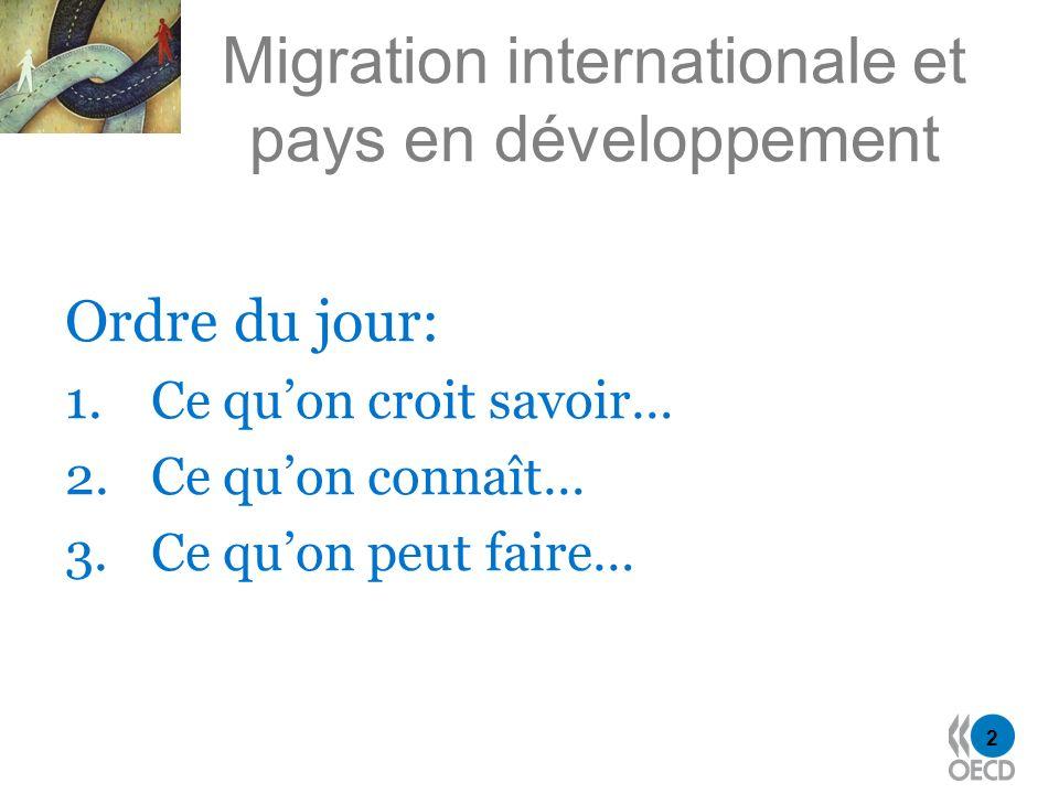 3 Deux principaux messages 1.La bonne nouvelle : la migration peut contribuer à la réduction de la pauvreté mondiale 2.Une nouvelle inconvéniente .