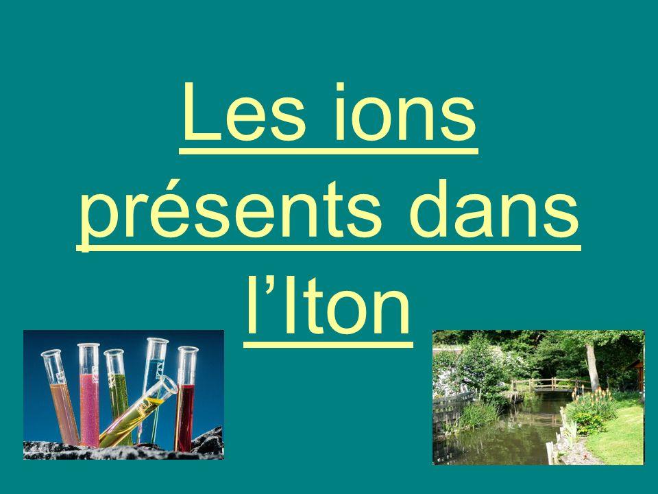 Les ions présents dans lIton