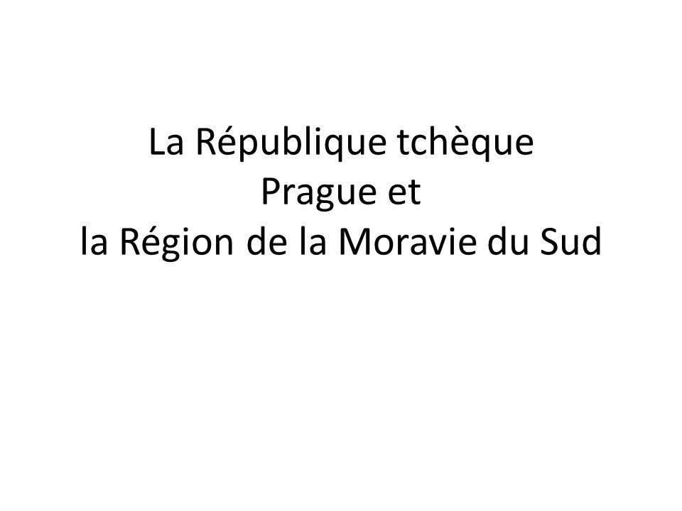 La République tchèque Prague et la Région de la Moravie du Sud