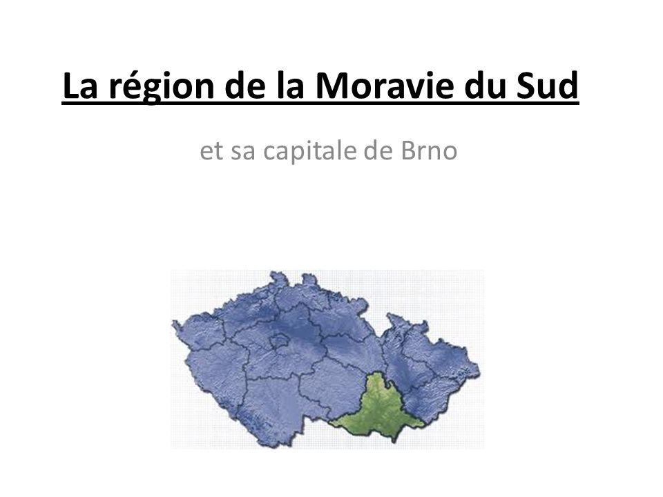 La région de la Moravie du Sud et sa capitale de Brno