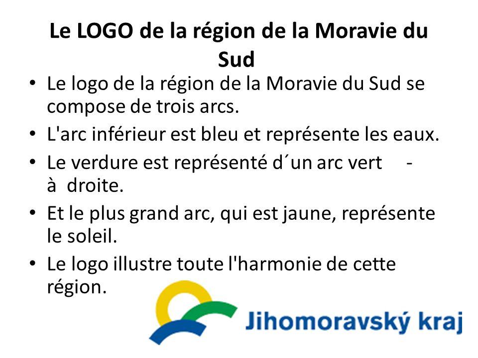 Le LOGO de la région de la Moravie du Sud Le logo de la région de la Moravie du Sud se compose de trois arcs. L'arc inférieur est bleu et représente l