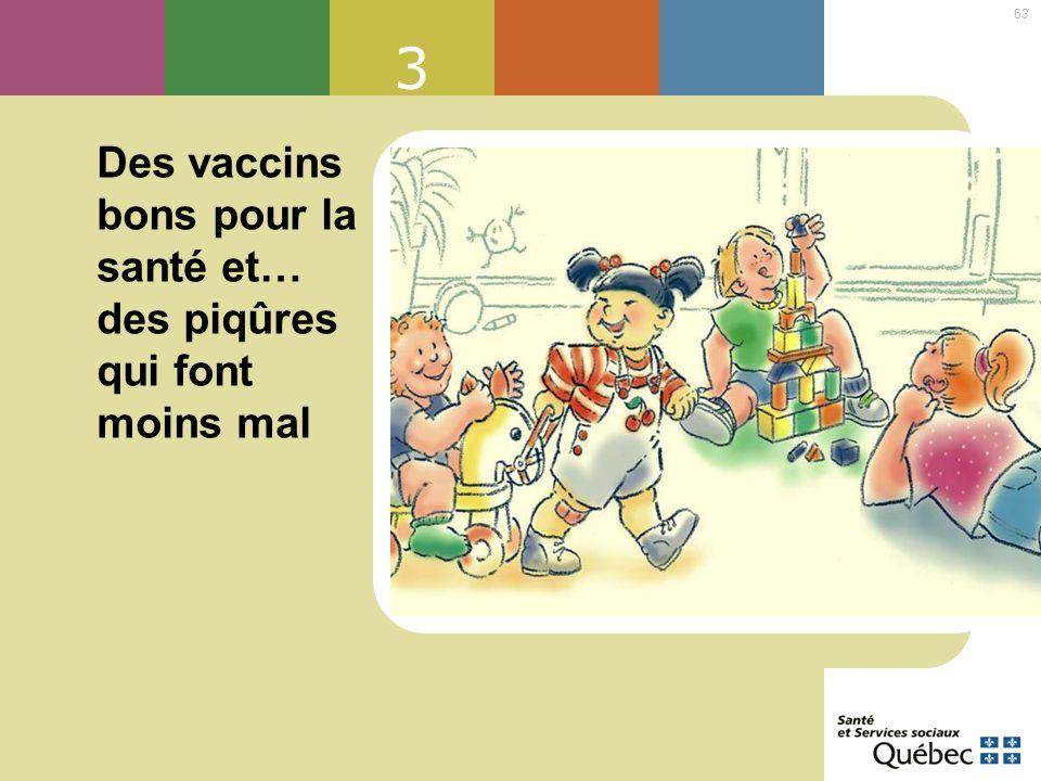 63 3 Des vaccins bons pour la santé et… des piqûres qui font moins mal