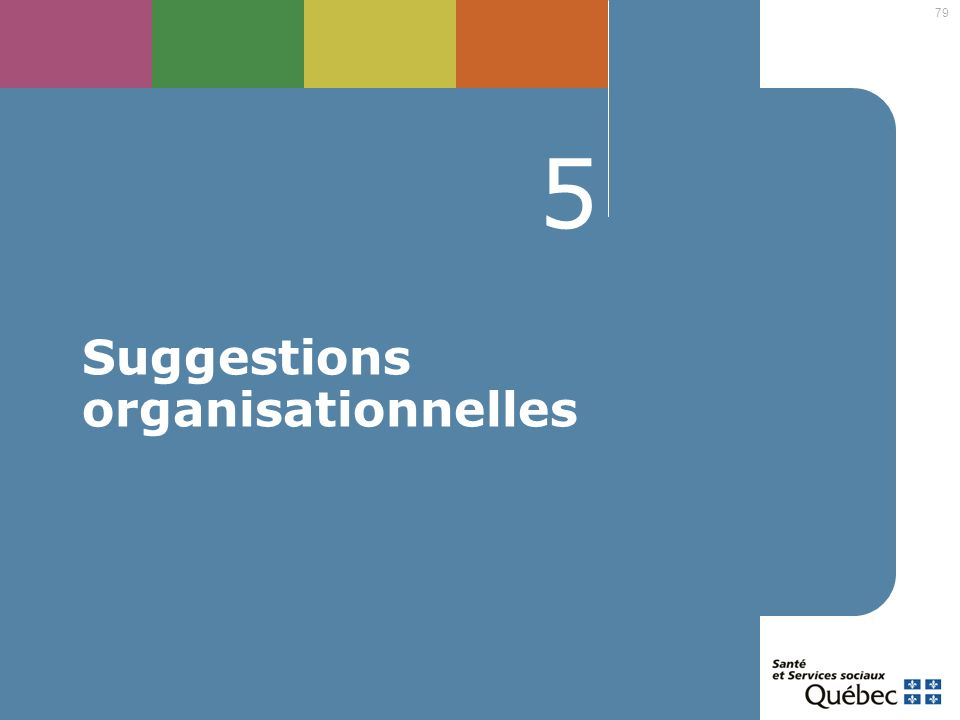 79 5 Suggestions organisationnelles